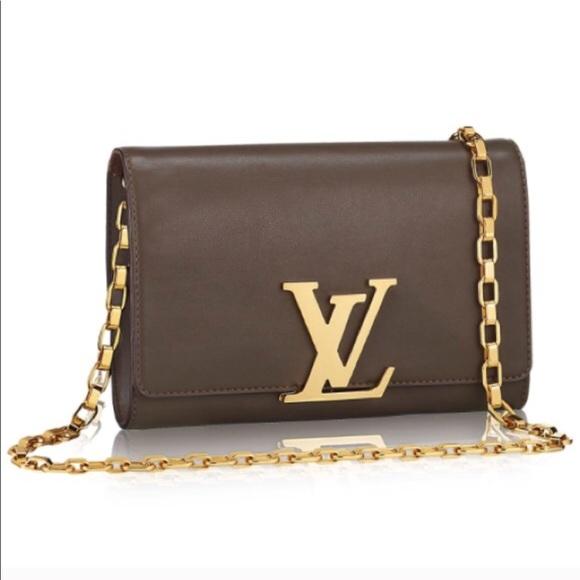 Louis Vuitton Handbags - Authentic Louis Vuitton Louise LV gold chain bag d3703a6d94b53
